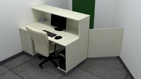 3d max office desk