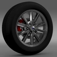 3d mustang 2005 wheel model