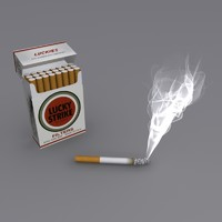 3d cigarette smoke cigar model