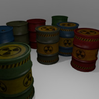 Lowpoly barrels