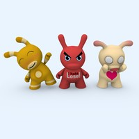 3d characters dunny cute model
