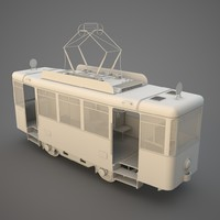 3d model of tram