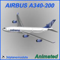 airbus a340-200 obj