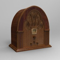obj antique radio
