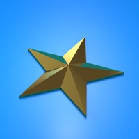 beveled star obj