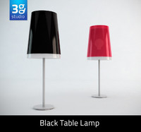 3d black table lamp
