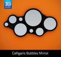 3d calligaris bubbles mirror