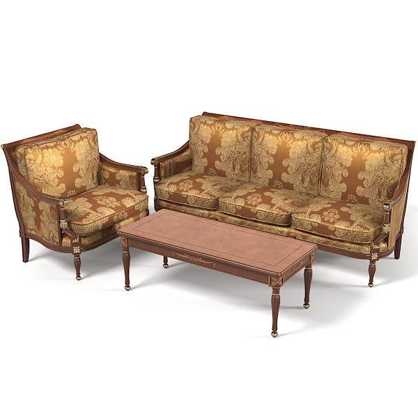 Colombo Mobili classic Sofa Arcmahir Table coffee set empire style 2730001.jpg