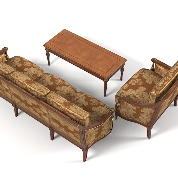 colombo mobili classic 3d max - Colombo Mobili art 273  classic Sofa Arcmahir Table coffee... by shop3ds