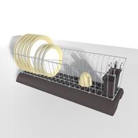 3ds max dish rack