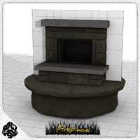 3ds max fireplace hearth