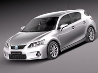lexus ct 200h 2012 3d model