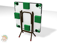 design mahjong table 3d model