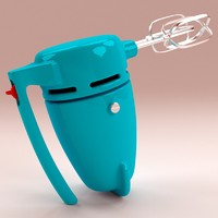 3d retro electric mixer model