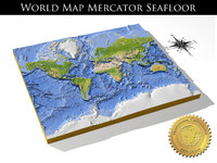 max relief world seafloor mercator