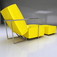 FLEXFORM ABC ARMCHAIR AND POUF CONTEMPORARY