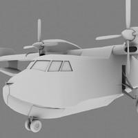water bomber 3d model