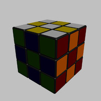 3ds max realistic rubik s cube
