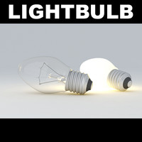 3d model of lightbulb light bulb