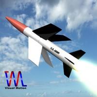mgm-18a lacrosse missile 3d obj