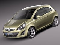 3d opel corsa 3 door model
