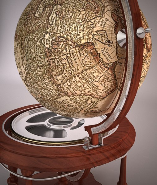 3ds max luxurious globe bar - Luxury Globe Bar... by kamtyf