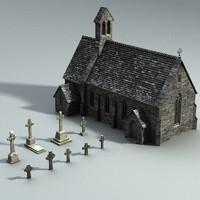 medieval gravejard set 3d 3ds