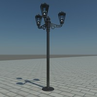 street light lamp 3d max