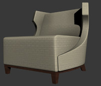 3d model fendi dorchester armchair