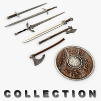 Medieval weapons collection