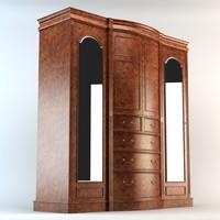 wardrobe cabinet armoire 3d max