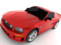 2005 mustang 3d model