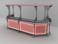 3d max hi tech bar line