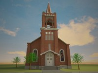 3d model of church