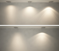 IES lighting. Five realistic lights. Vray