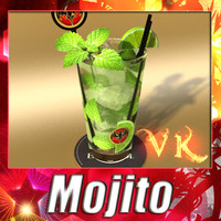 High Detailed Bacardi Mojito Rum