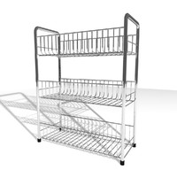 chrome food stand 3d model
