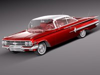 3d model chevrolet impala 1960 coupe