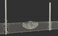 forged decorative fence 3d model