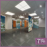 exhibition office room 3d max