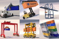 harbour container crane 3d model