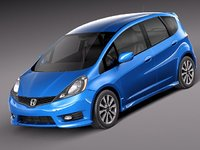 3d model of honda fit jazz sport