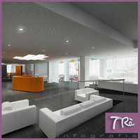 3d model interior office reception