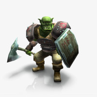 Orc Warrior Rigged & Animated