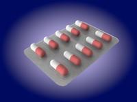 capsules pill pack 3d model
