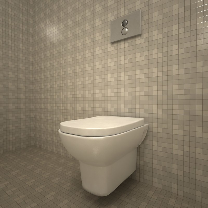 3d vitra retro toilet bowl model. Black Bedroom Furniture Sets. Home Design Ideas