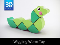 Wooden Wiggling Worm Toy