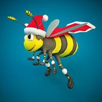c4d santa bee