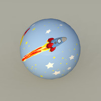 toy space ball 3d model