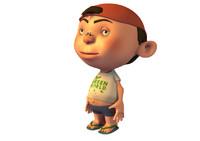 boy child cartoon 3d obj